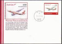 Beleg mit PM A340 Philharmoniker - OT 16. 1.2020